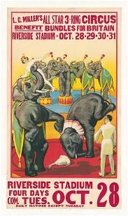 Original Circus Poster L. C. Millers Circus