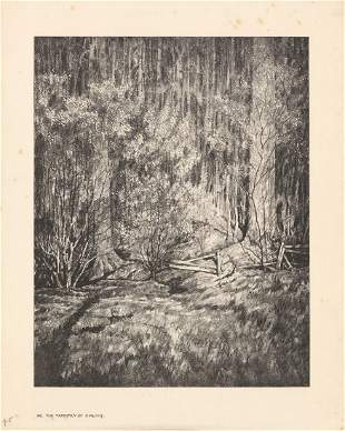 Albert Barker Tapestry of Spring Lithograph