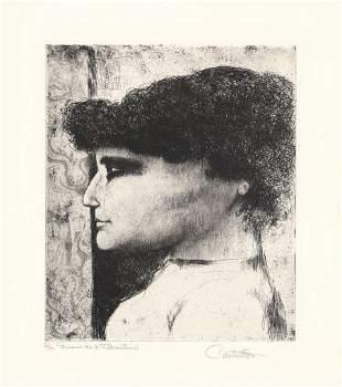 Federico Castellon Mimi Original Etching