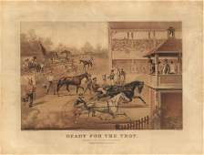 Original Currier  Ives Ready for the Trot