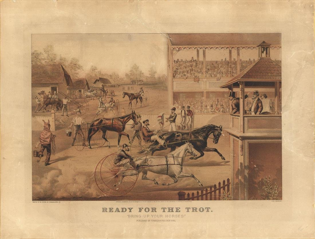 Original Currier & Ives, Ready for the Trot