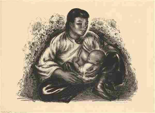 Thomas Handforth, Motherhood, Original Litho