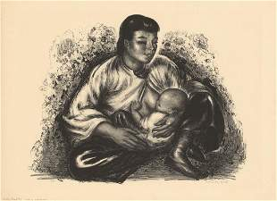 Thomas Handforth Motherhood Original Litho