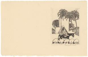 Thomas Handforth Original etching