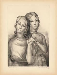 Hemilce Saforcada Ilse and Monica AAA Etching