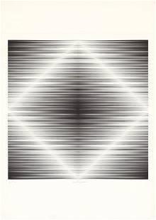 Getulio Alviani, Untitled Op Art, Lithograph