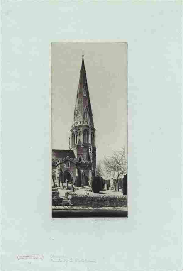 John Taylor Arms, Stanwick, Etching