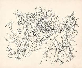 Al Blaustein, Ink Drawing