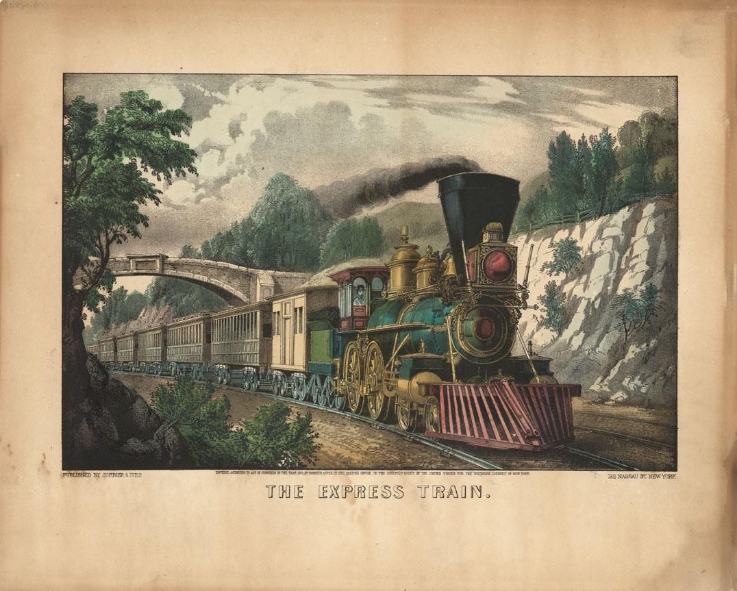 Currier & Ives - The Express Train - Lithograph