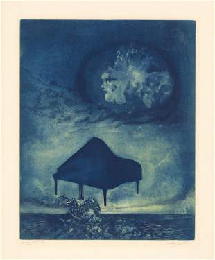 Hank Laventhol Homage a Grieg Etching