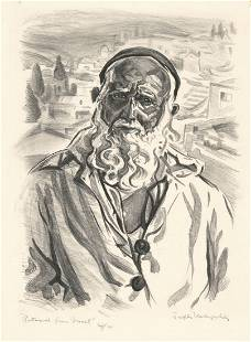 Joseph Margulies Litho Patriarch from Israel