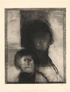Robert E Marx Untitled Etching