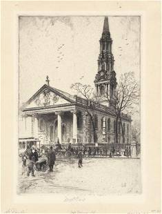 Charles Mielatz St Pauls Church Drypoint