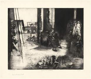 Barbara S Spitz Around the Cathedral Etching