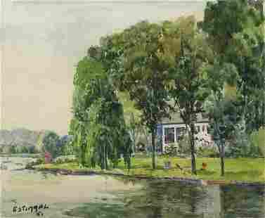 Watercolor Pachannak Lake NJGeorge Stimmel