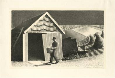 Grant Wood, Seed Time and Harvest, Lithograph