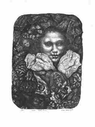 Ivan Albright, Hail - To the Pure, Lithograph