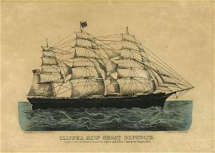 Currier Ives Great Republic Lithograph