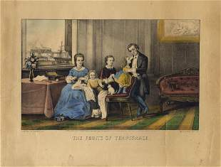 CurrierIves Fruits of Temperance Lithograph