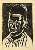 Werner Drewes , Negro Boy , Woodcut