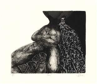 Ofelia Garcia Dark Collagraph