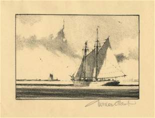 Gordon Grant Off Shore Lithograph