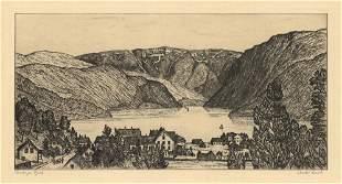 Chester Leich Hardanger Fjord Drypoint