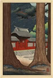Lilian Miller, Nikko Gateway-Japan, Color Woodcut