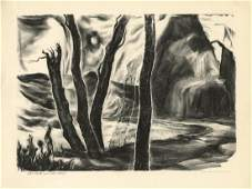 Alice Harold Murphy, The Rock-The Wave, Litho