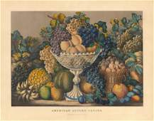 Currier & Ives, American Autumn Fruits Lithograph
