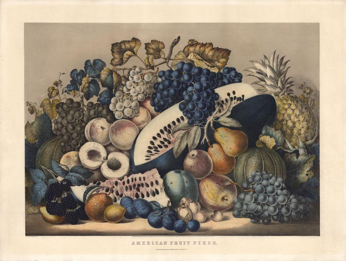 Currier & Ives, American Fruit Piece, Lithograph