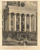 Inauguration of Jefferson Davis, Lithograph