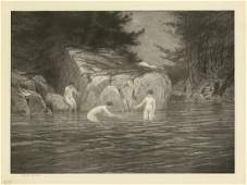 Bolton Brown Three Bathers Lithograph