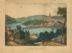 Currier & Ives, Londonderry, Ireland, Lithograph