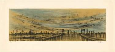 Richard Florsheim, Refinery, Lithograph