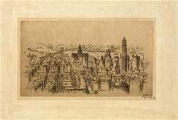 F. Werner Hoppe, Untitled View of Manhattan