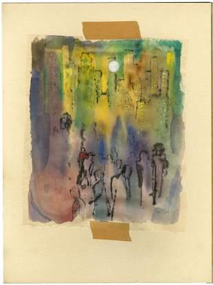 Rose Alber, City No. 1, Watercolor