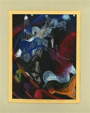Rose Alber, Ring Master, Pastel Drawing