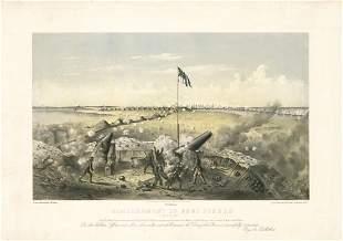 James M. Alden, Bombardment of Fort Fisher, Litho