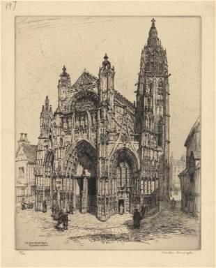 Caroline Armington, L'Eglise Notre Dame, Etching