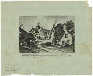 John Taylor Arms, Abbaye de Saint Paul, Etching