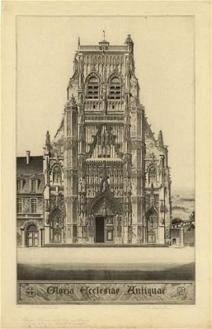 John Taylor Arms, Gloria: Saint Riquier, Etching