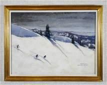 Wayne Davis, Squaw Valley, California, Oil