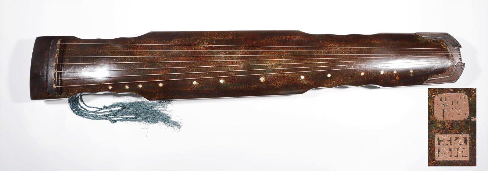 """Qing Dynasty - Musical Instrument """"Gu Qin"""""""