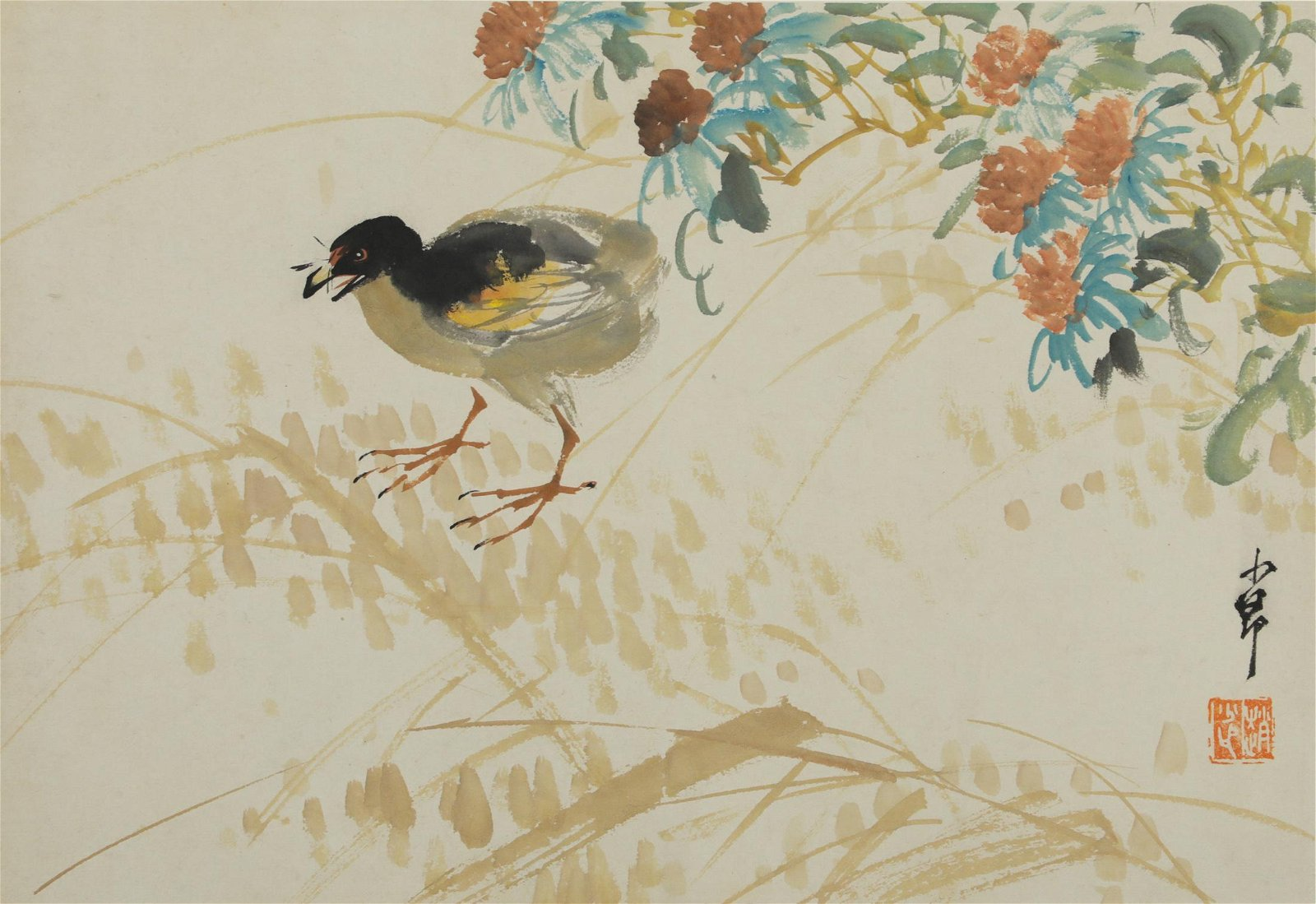 Chao Shao-an - Flower and Bird Painting