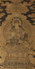 Tang Dynasty - Wu Daozi Buddha Painting