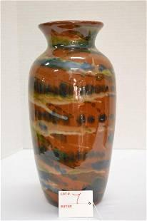 Unmarked Marbleized Vase 11 in