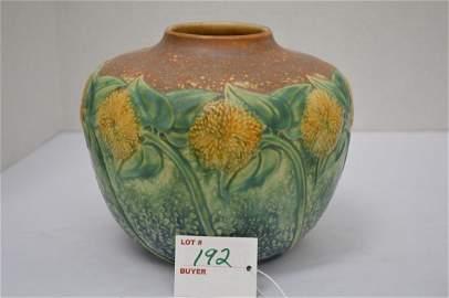 """Roseville """"Sunflower"""" Vase, 6 x 7 in."""