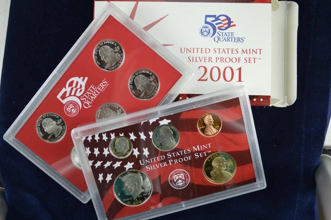 2001 United States Silver Proof Set, All original