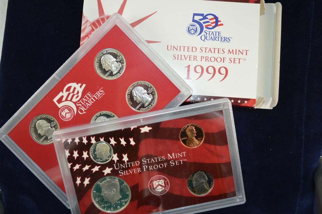 1999 United States Silver Proof Set, All original